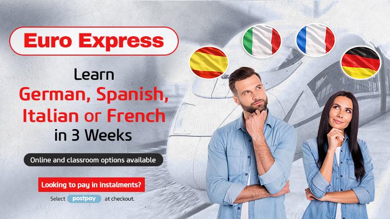 Euro Express: Learn German, French, Spanish or Italian
