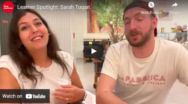 Learner Spotlight: Sarah Tuqan